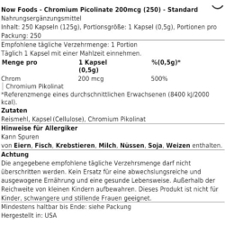 Now Foods - Chromium Picolinate 200mcg
