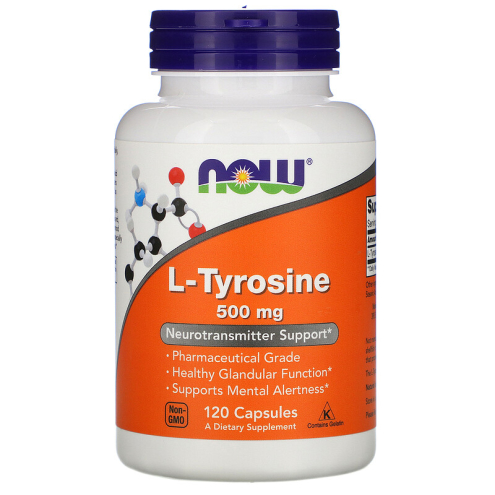 Now Foods - L-Tyrosine 500mg 120caps