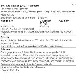 EFX - Kre-Alkalyn 240 caps Standard