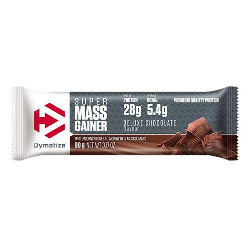 Dymatize-Super Mass Gainer Bar 90g Deluxe Chocolate