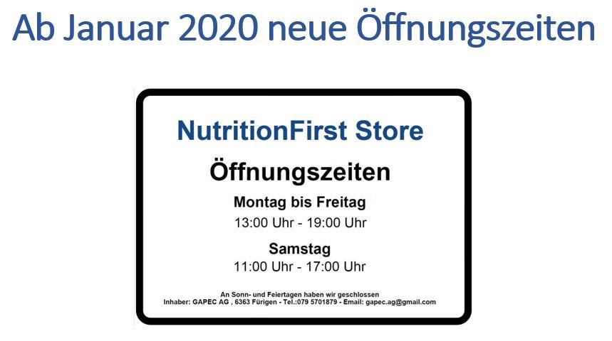 Neue Öffnungszeiten ab Januar 2020